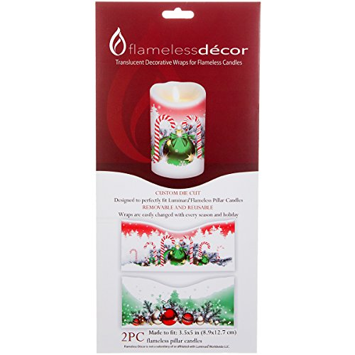Darice 2 Pieces Flameless Decor Ornament Candle -