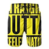 JWJW5-20 Straight Outta Steeler Nation-1 Summer Boardshorts, Men's Beach Pants with Pocket