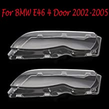 Headlight Lens Plastic Shell Cover For BMW E46 4 Door 2002-2005