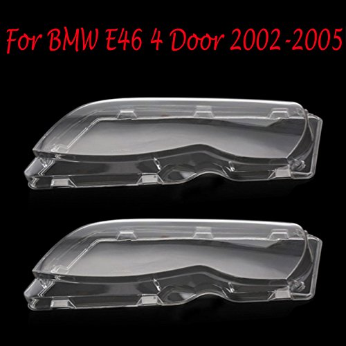 Headlight Lens Plastic Shell Cover For BMW E46 4 Door 2002-2005