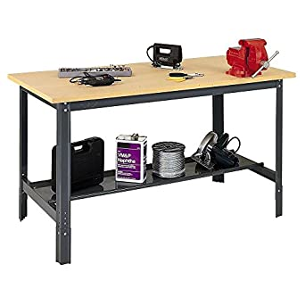 Sensational Edsal Ub700 Steel Economy Work Bench With 1 Flake Board 60 Width X 29 Height X 30 Depth Industrial Gray Machost Co Dining Chair Design Ideas Machostcouk