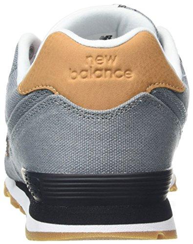 New Balance Unisex-Kinder Gc574v1g Sneaker Grau (Grey/Blue)
