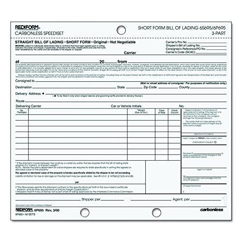 short form bill of lading