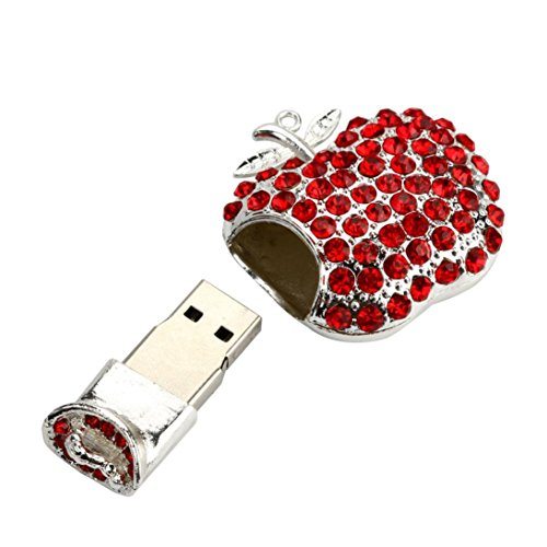 2 Gb Mini Attache - Cywulin USB Flash Memory Stick, Heart Shape Mini Ultra Thin Fast Portable Extended Connector Memory Drives Digital Disk External Storage Expansion for PC Laptop Computer Mac and More (2 GB)