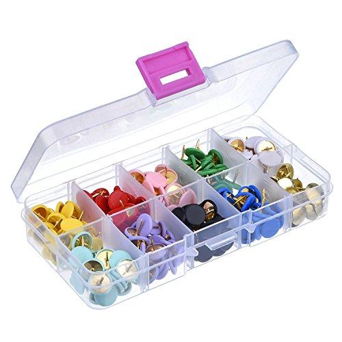 Thumb Tacks, 300 PCS Plastic Round Head Drawing Pins 10 Colors