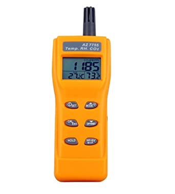 Portable CO2 Gas Detector 0~9999ppm LCD Display Battery Powered Digital 5 in 1 Digital