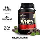OPTIMUM NUTRITION GOLD STANDARD 100% Whey Protein Powder, Chocolate Mint 2LB