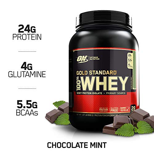 (OPTIMUM NUTRITION GOLD STANDARD 100% Whey Protein Powder, Chocolate Mint 2LB)