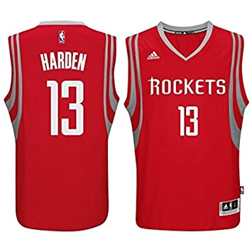 dc380121796a ... closeout james harden houston rockets 13 nba youth replica road jersey  red youth small 8 c31f6