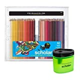Prismacolor Scholar Art Pencils, Box of 60 and Pencil Sharpener Bundle