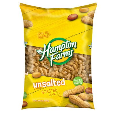 Hampton Farms Unsalted Roasted In-Shell Peanuts, 5 lbs.