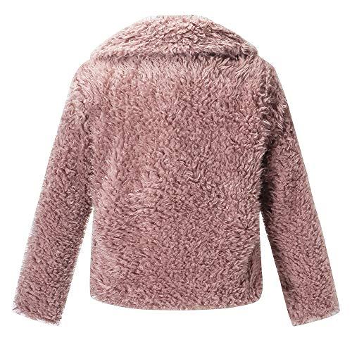 En Vestes Hiver Couleur Fourrure À Rose Sexy Unie Laine Fausse Épais Outerwear Parka Susenstone Mode Chaud La Manteau Femme qI8SSX