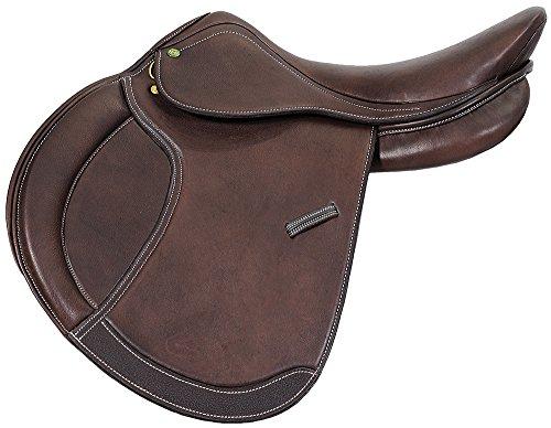 Henri de Rivel Pro Concept Close Contact English Saddle | Horse Riding Equestrian Saddle - Havana - 19 Regular