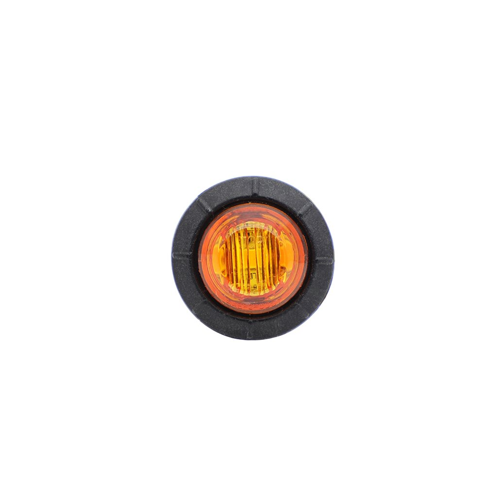 Meerkatt 3//4 Inch Mini Round Smoked Lens Green LED SMD Bullet Side Marker Indicator Light Universal Clearance Lamp Grommets Truck ATV SUV Car Trailer Bus RV Boat 12V DC Waterproof Pack of 100
