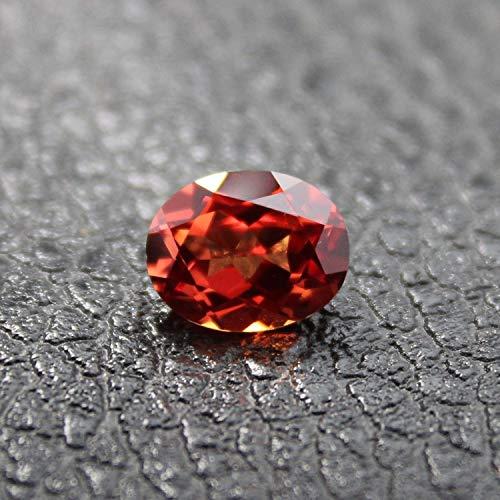 Calvas Madagascar Mandarin Garnet Loose Stone Fancy Faceted Created Gemstone Beads for Jewelry Making DIY gems Stones Names red Orange - (Item Diameter: -