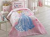 Bekata Princess Vanessa, 100% Cotton Single/Twin Size Bedspread/Coverlet Set, Princess Bedding Set, Pink 2 PCS