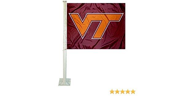 One Size Multicolor Rico NCAA Virginia Tech Car Flag Sports Fan Automotive Flags