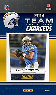 San Diego Chargers 2014 Score NFL Football Factory Sealed 11 Card Team Set with Philip Rivers, Woodhead, Gates Plus