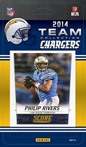 (San Diego Chargers 2014 Score NFL Football Factory Sealed 11 Card Team Set with Philip Rivers, Woodhead, Gates Plus)