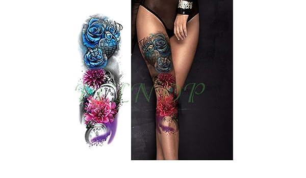 3 piezasPegatina de Tatuaje a Prueba de Agua Eagle Pocket Watch ...