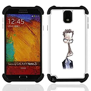 For Samsung Galaxy Note3 N9000 N9008V N9009 - Steve drawing white alien character Dual Layer caso de Shell HUELGA Impacto pata de cabra con im????genes gr????ficas Steam - Funny Shop -