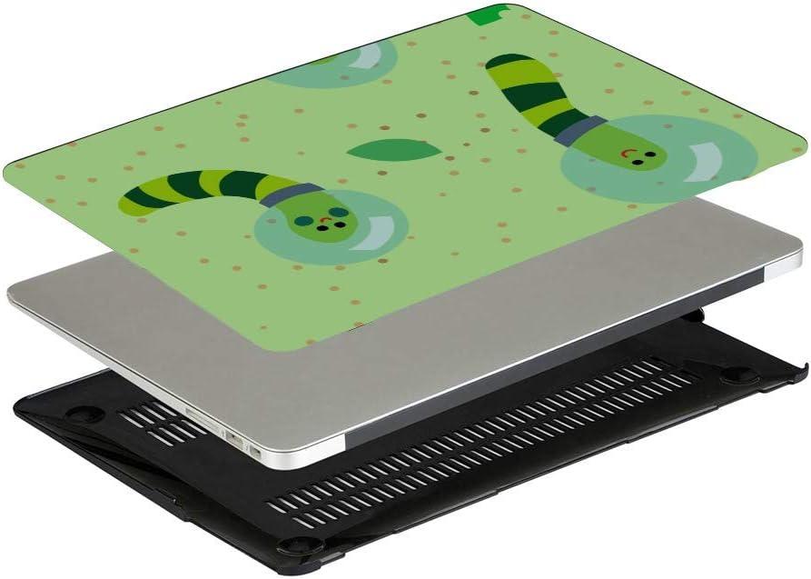 MacBook 15 Case Small Cute Cartoon Reptile Silkworm Plastic Hard Shell Compatible Mac Air 11 Pro 13 15 Case MacBook Pro 13 Protection for MacBook 2016-2019 Version