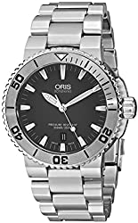 Oris Men's 73376534153MB Divers Stainless Steel Automatic Watch with Grey Dial