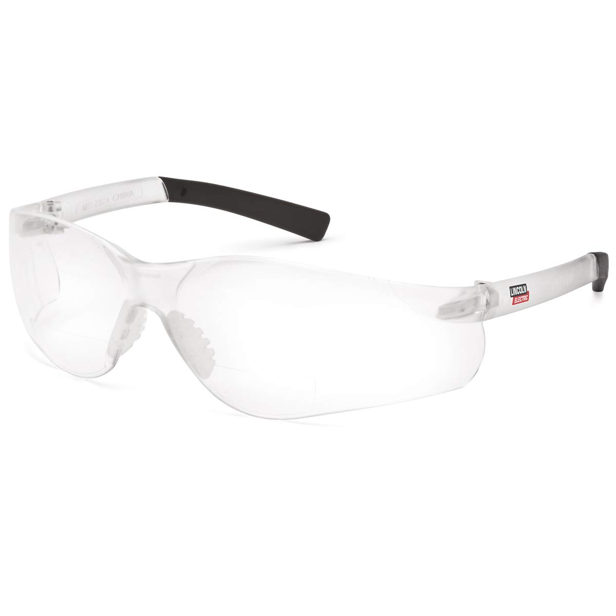 Lincoln Electric Bifocal Safety Glasses | 1.50 Diopter | Soft Rubber Overmolded Frame | Clear Lens |