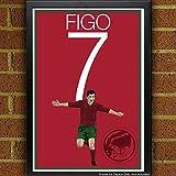 Luis Figo Poster - Portugal Art