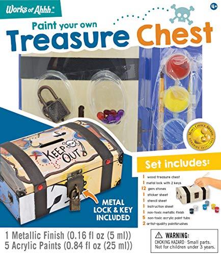 (MasterPieces Works of Ahhh Treasure Chest Wood Paint Kit)