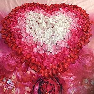 Junbuoom 500pcs Peach DIY Decro Fake Silk Flower Hand Flower for Party Wedding Rose Petals Artificial Flower Home Decor 77