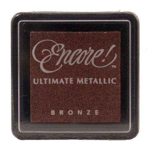 Tsukineko Small Size Encore Ultimate Metallic Pigment Inkpad, Bronze