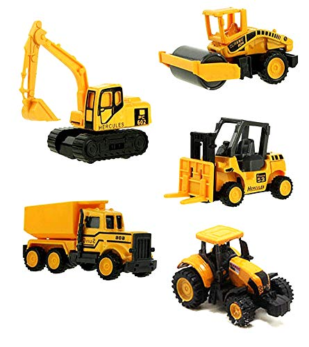 HAPTIME 6 Pcs Mini Truck Toys Small Construction Engineering Vehicle