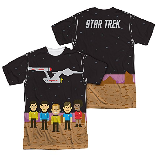 Star Trek Pixel Crew All Over Print All Over Print T-Shirt XX-Large White
