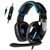Sades SA816 Xbox one PS4 Gaming Headset Noise Cancelling Mic Over Ears Gaming Headphones with Microphone for PlayStation 4 Xbox one Nintendo Switch PC Laptop Smartphones (Black)