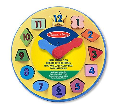 Melissa & Doug Wooden Shape Sorting Clock Educational Toy by Melissa & Doug