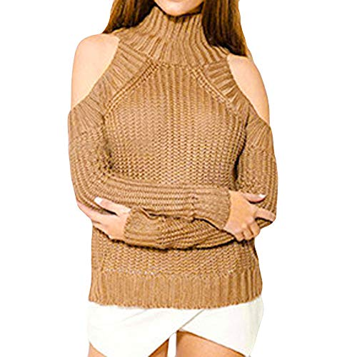 - Londony Sale! Perfect Winter Sweater,Oversized Loose Knit High Neck Cold Shoulder Pullover Sweaters Women