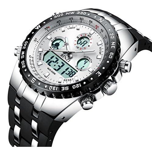 BINZI Big Face Sport Watches for Men, Roman...