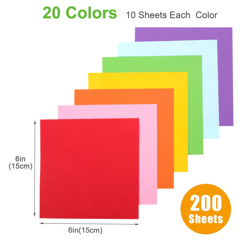100 fogli cuori artigianato per bambini fiori quadrata per gru aerei rosa 15 x 15 cm Carta per origami fai da te