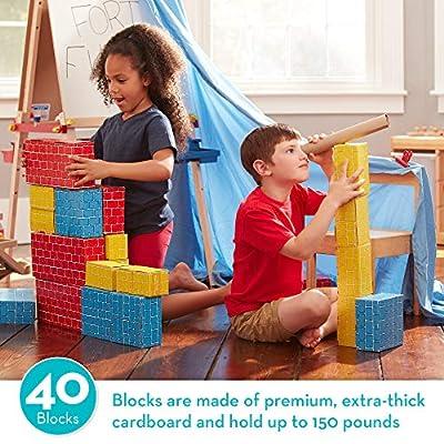 Melissa & Doug Jumbo Cardboard Blocks - 40 Pieces: Melissa & Doug: Toys & Games