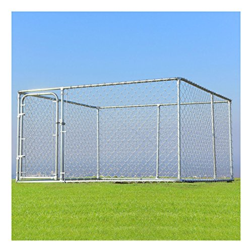 Large Pet Dog Run House Kennel Shade Cage 7.5'x7.5' Roof Cover Backyard Playpen- Dog kennel