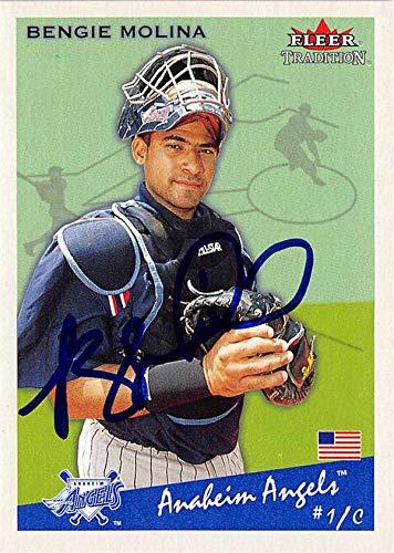 Bengie Molina autographed baseball card (Anaheim Angels, SC) 2002 Fleer Tradition #244