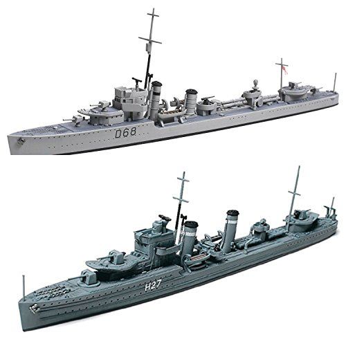 2 Tamiya Ship Models - Royal Australian Naval Destroyer Vampire and O Class British Destroyer (Japan Import)