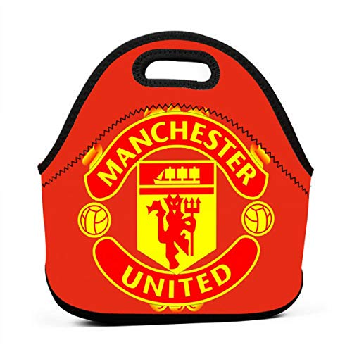 Manchester United F.C Lunch Bag Insulated Tote Handbag Lunchbox Food Container Tote Warm Pouch (Box Lunch United Manchester)