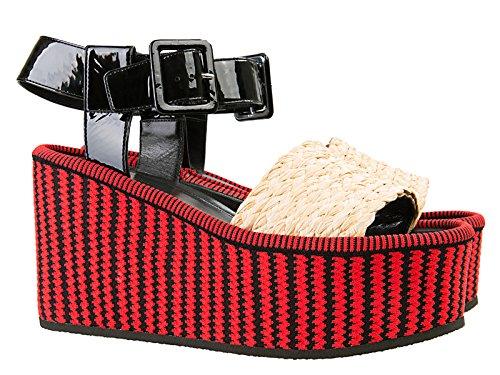 de colores 318022KRWC Multicolor varios modelo de Céline de en Número 27RB cuero tela cuñas sandalias n8q7vTZ