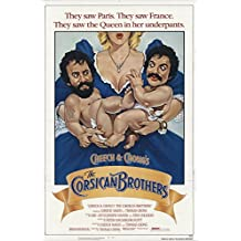"""Cheech & Chong's The Corsican Brothers 1984 Authentic 27"""" x 41"""" Original Movie Poster Cheech Marin Comedy U.S. One Sheet"""