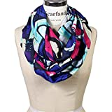 Scarfand's Mixed Color Oil Painting Infinity Scarf (Abstract Violet Fuchsia)