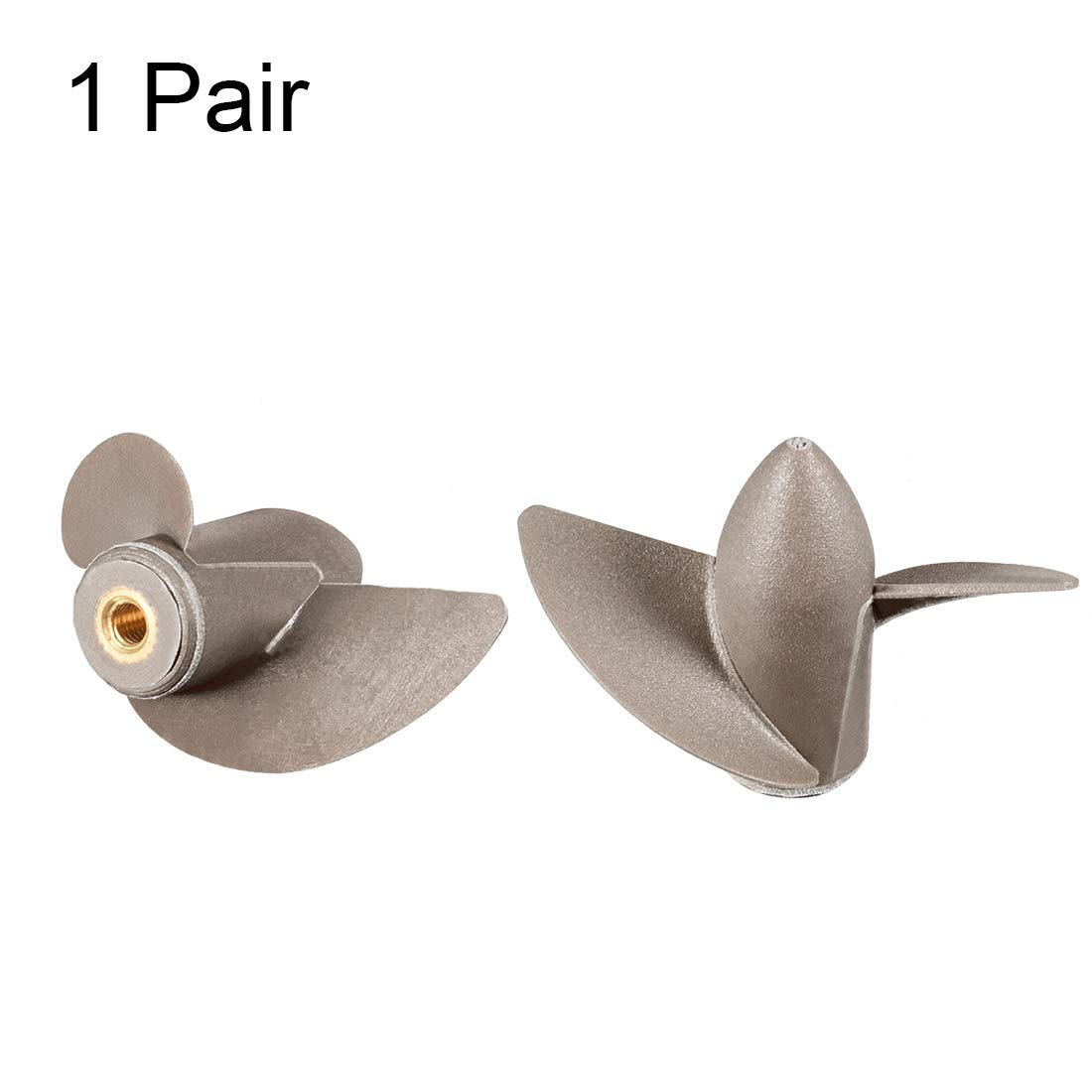 uxcell RC Boat Propeller M4 Shaft 2 Vanes 35mm 25mm P//D Fan Shape Copper Core Pastic Black CW CCW Rotating Propeller Props for RC Boat 1 Pair