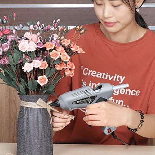 Minmin ホットメルト接着剤銃は大グルーガンを200Wと30接着剤は、マニュアル大型家庭用メンテナンス用品、プラスチック、紙カード、ファブリックの接着剤キット、グレースティック ミニ (Color : A)