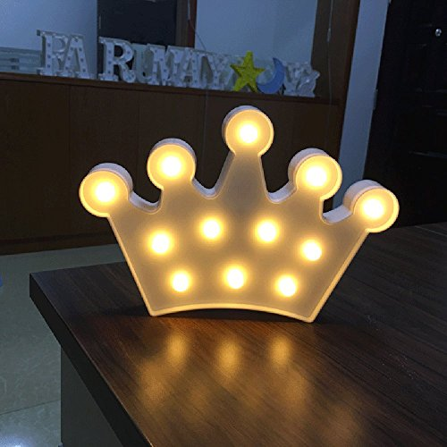 Kanzd Crown Alphabet Lights LED Light Up White Plastic Letters Standing Hanging (White) For Sale